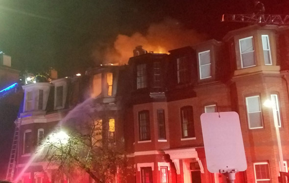 East 4 Street fire in South Boston