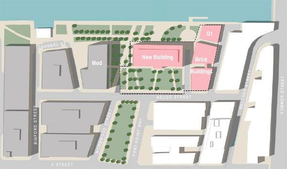 Proposed GE headquarters map