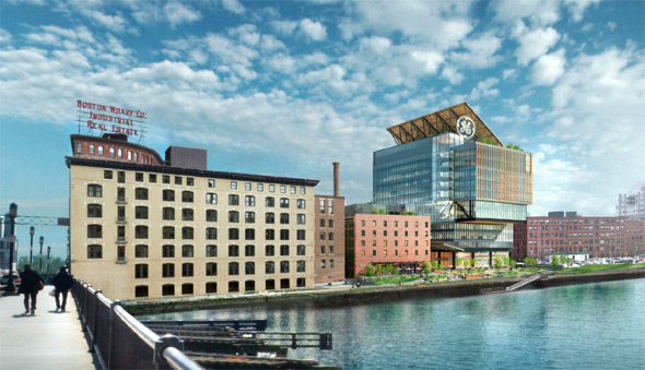 Proposed GE headquarters on Fort Point Channel