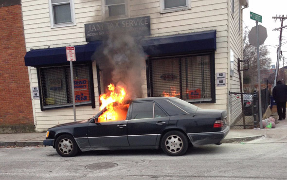 Green Street car fire