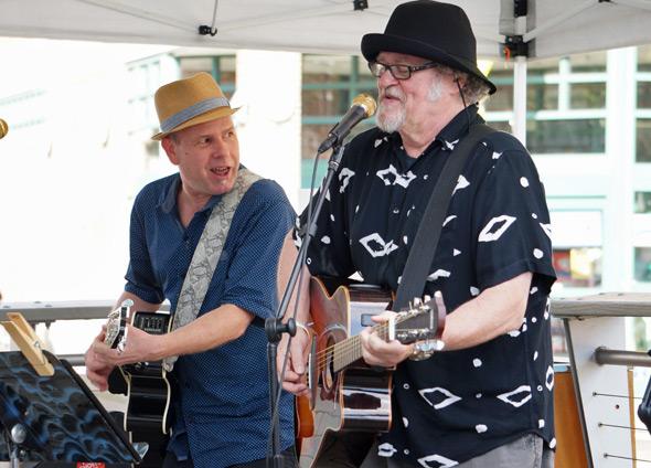Acoustic rock music in Porch Fest