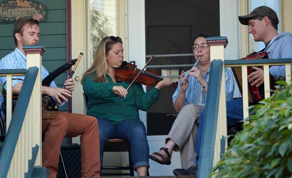 Irish music in Porch Fest
