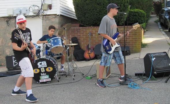 Rock music in Porch Fest