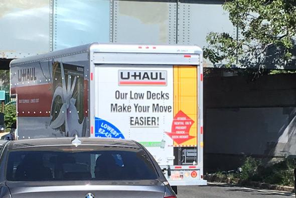 U-Haul driver made a bad decision