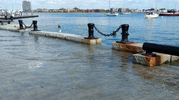 Flooded Long Wharf