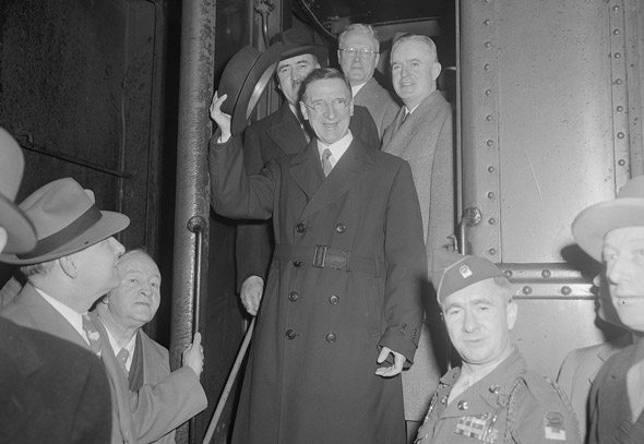 Eamon de Valera at South Station