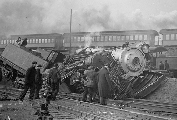 Locomotive crash