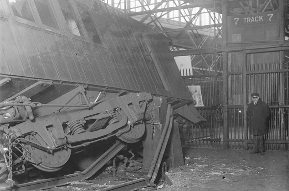 Train crash at South Station