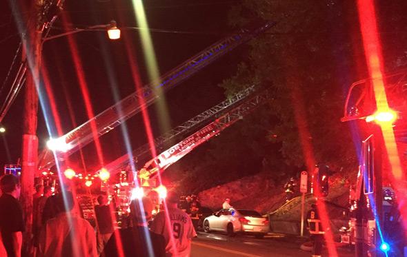 Walter Street fire in Roslindale