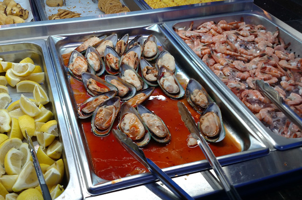 Shellfish at the buffet