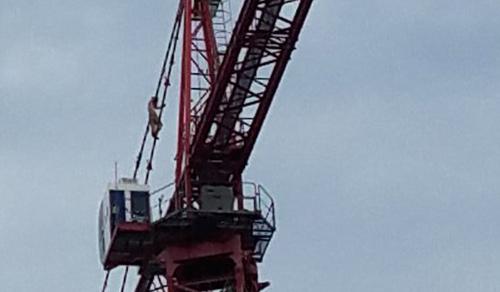 Crane climber