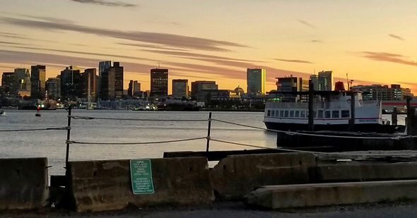 Sunset over Boston