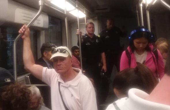 Cops on a trolley