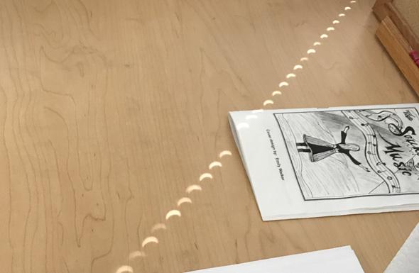 Eclipse on a desk