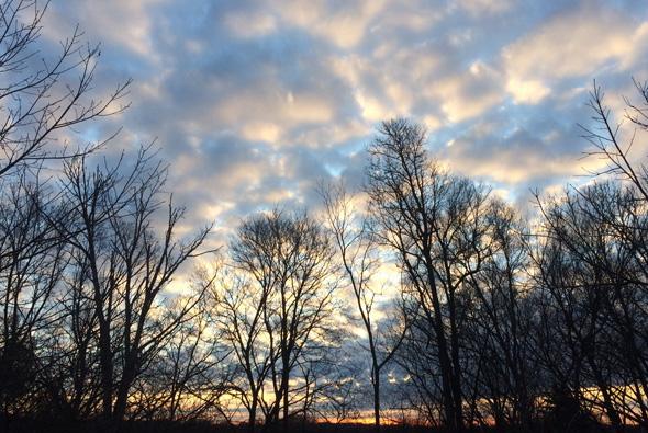 Clouds over Roslindale