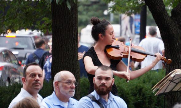 Violinist at memorial