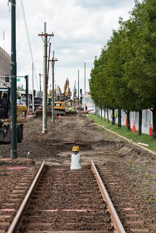 Commonwealth Avenue track work