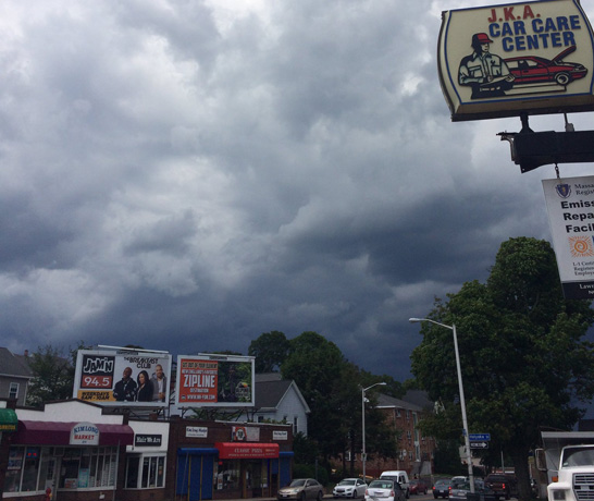 Dark clouds in Malden