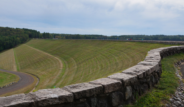 Quabbin: Grass dam