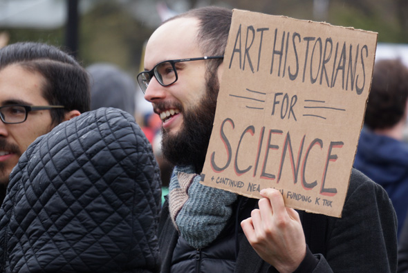 At march for science: Art historian