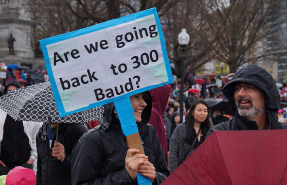 At march for science: 300 baud