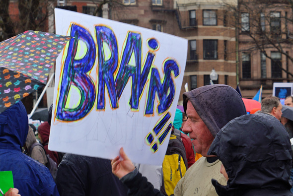 At march for science: Brains