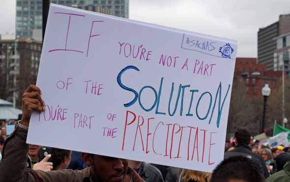 At march for science: Solution