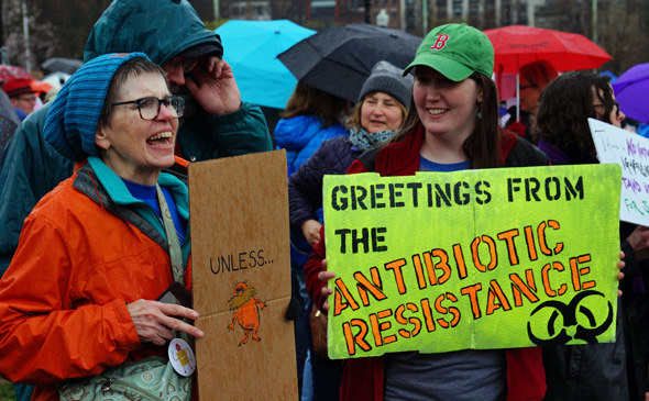 At march for science: Antibiotic resitance