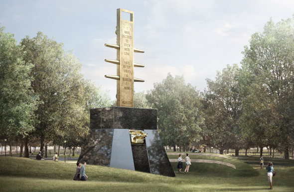 Proposed MLK memorial on the Common