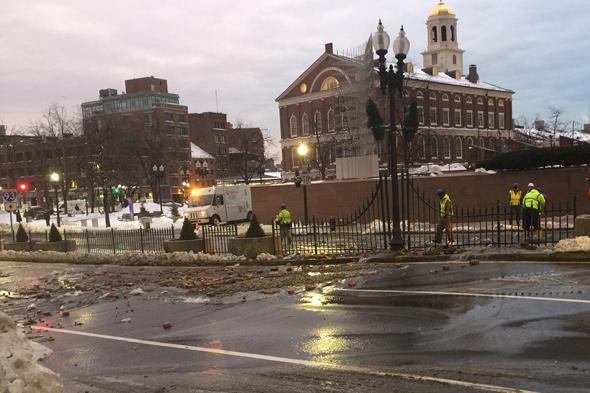 Congress Street repair work