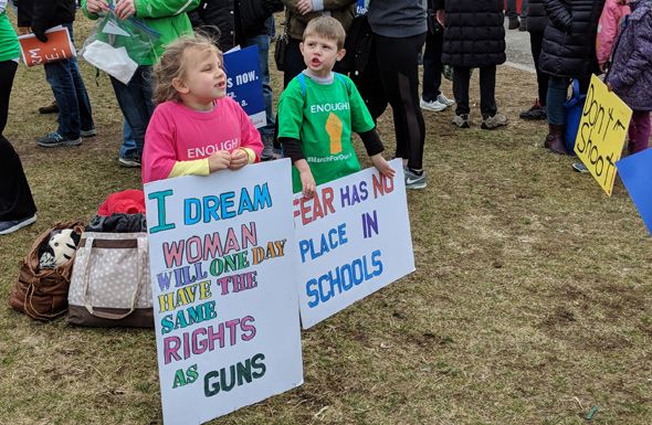 Kids at rally