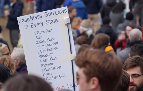 Massachusetts at the rally