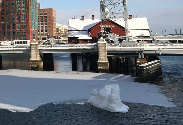 Ice on Fort Point Channel