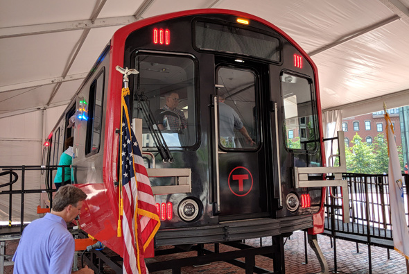 Front of a new Red Line car