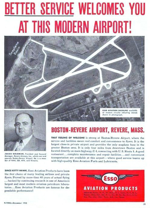 An ad for Revere Airport