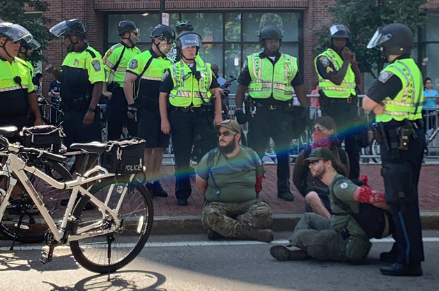 Protesters arrested