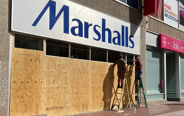 Marshalls being boarded up