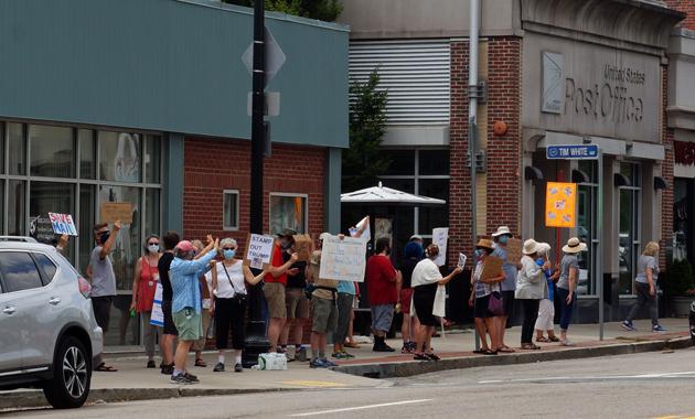 USPS supporters in West Roxbury