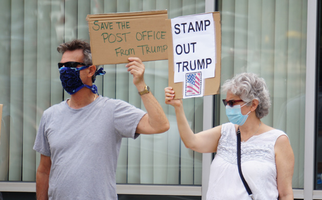USPS supporters in West Roxbury