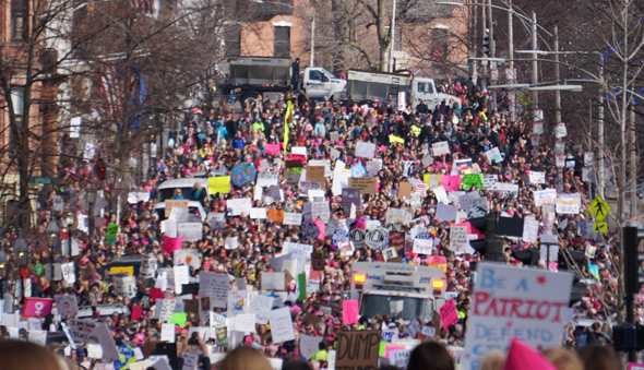 From the 2017 women's march on Beacon Street