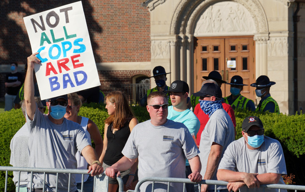 Sign: Not all cops are bad