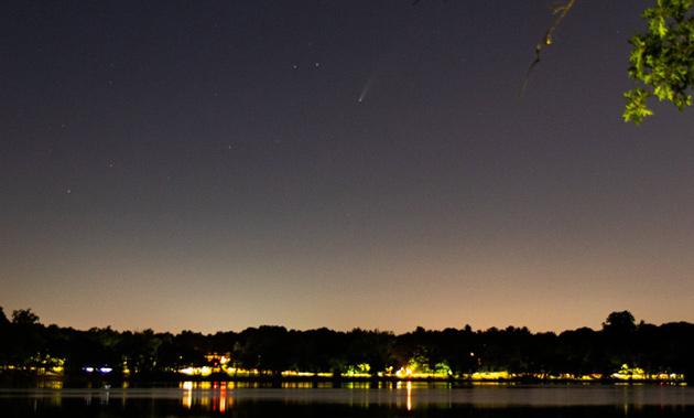 Comet over Jamaica Pond