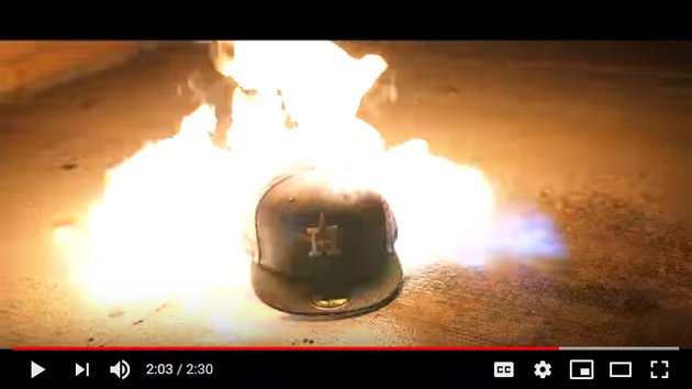 Flaming Astros hat