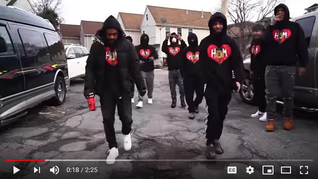 Gang members in HSM hoodies