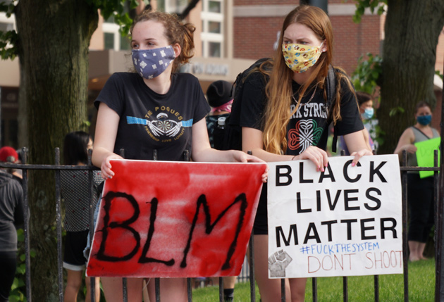 Sign: BLM