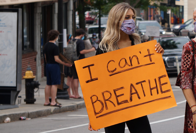 Sign: I can't breathe