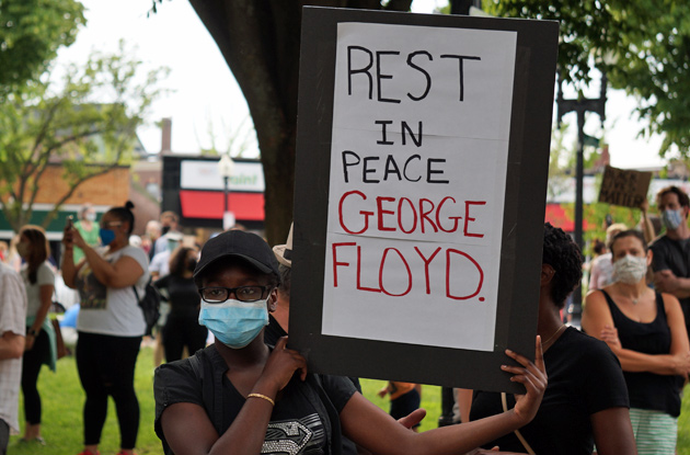Sign: RIP George Floyd